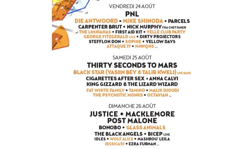 Découvrez le programme du festival Rock en Seine