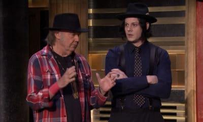 Jack White en compagnie de Neil Young