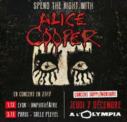 Alice Cooper annonce un deuxième concert à Paris 7