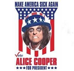 Alice Cooper se lance dans la présidentielle américaine 7