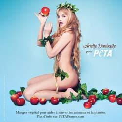 Arielle Dombasle nue pour la cause animale 7