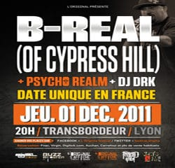 B-Real & Psycho Realm en concert au Transbordeur 10