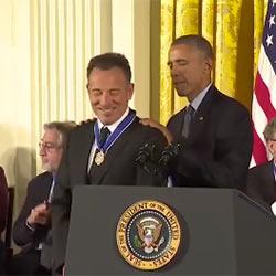 Le Boss reçoit la plus haute distinction civile américaine 5