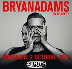 Bryan Adams au Zénith de Paris en octobre 2016 6