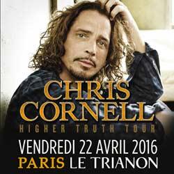 Chris Cornell en concert le 22 avril 2016 à Paris 7
