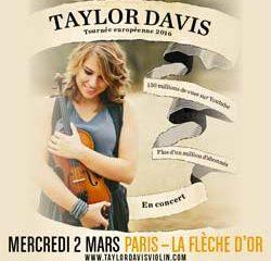 Taylor Davis pour la première fois en France 5