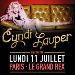 Cyndi Lauper au Grand Rex le 11 juillet 2016 5