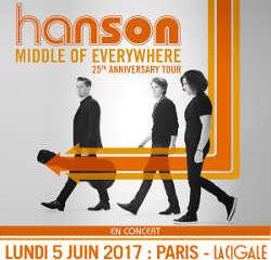 Les Hanson en concert à La Cigale le 5 juin 2017 6