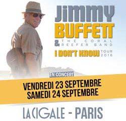 Jimmy Buffett en concert à la Cigale en septembre 16