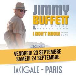 Jimmy Buffett en concert à la Cigale en septembre 5