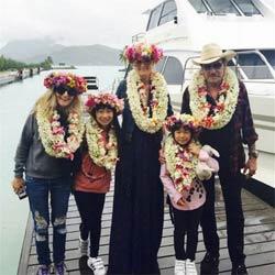 Johnny et Laeticia Hallyday en vacances à Tahiti 6