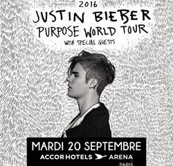 Justin Bieber en concert le 20 septembre 2016 à Paris 13