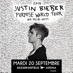 Justin Bieber en concert le 20 septembre 2016 à Paris 5