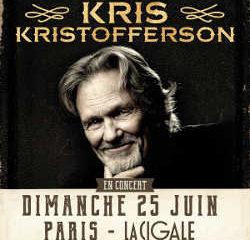 Kris Kristofferson en concert à Paris le 25 juin 2017 11