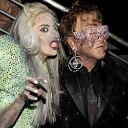 Lady Gaga Elton John Grammy 2010 5