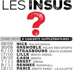 8 concerts supplémentaires pour les Insus 12