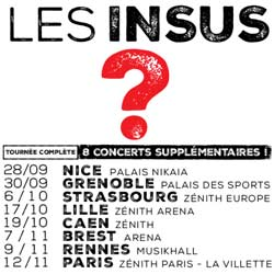8 concerts supplémentaires pour les Insus 5