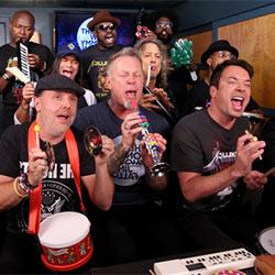 Metallica interprète un de leurs tubes avec des jouets musicaux 5