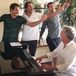 Roger Federer et Novak Djokovic se lancent dans la chanson 5