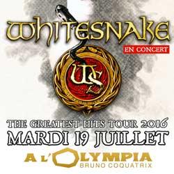 Whitesnake à l'Olympia le 19 juillet 2016 5