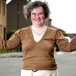 Susan Boyle plante M6 5