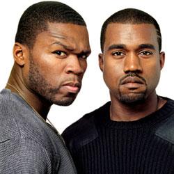 50 Cent et Kanye West sur la même scène 5