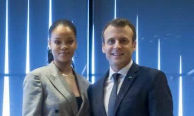 Rencontre Emmanuel Macron et Rihanna