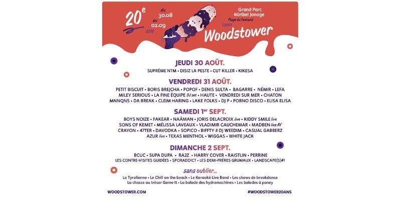Découvrez le programme complet du festival Woodstower