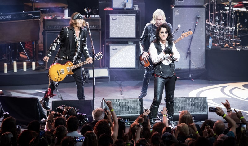 Concert de Johnny Depp et des Hollywood Vampires au Montreux Jazz Festival