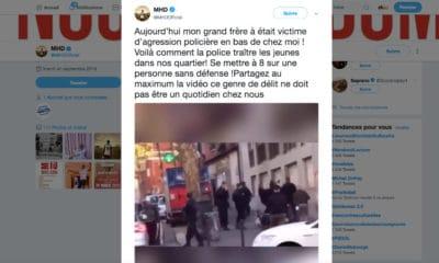 """Le rappeur MHD a diffusé sur Twitter les images de """"l'agression policière"""" dont a été victime son frère mardi soir"""