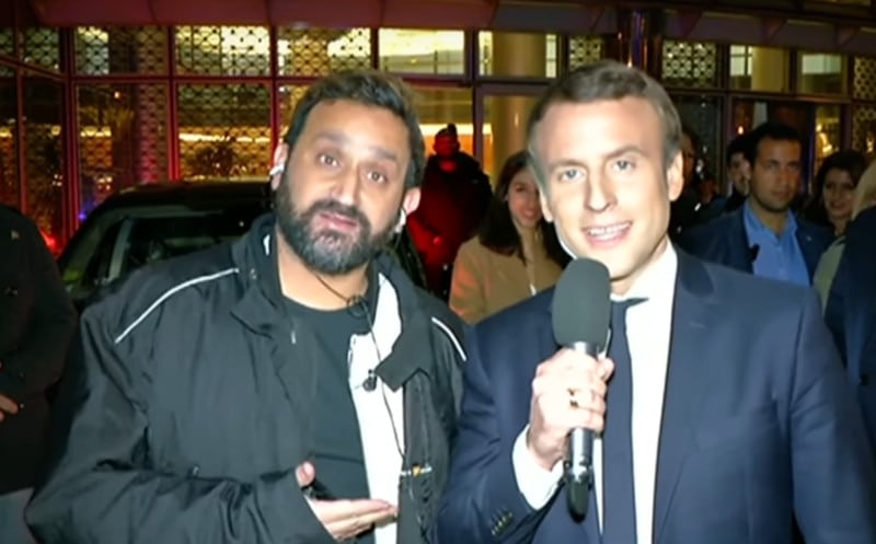 Cyril Hanouna félicité par Emmanuel Macron