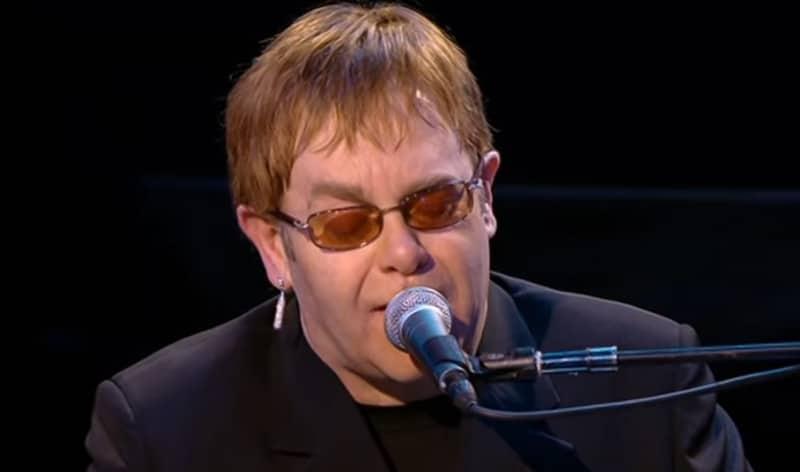 Elton John en concert le 29 juin 2019 au Stade de la Saussaz à Montreux