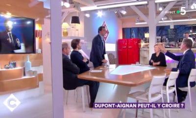 """Nicolas Dupont-Aignan mis à la porte du plateau de """"C à Vous"""""""