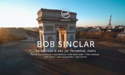 Bob Sinclar en concert sur l'Arc de Triomphe