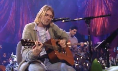La guitare utilisée pour le concert « Unplugged » de Nirvana aux enchères