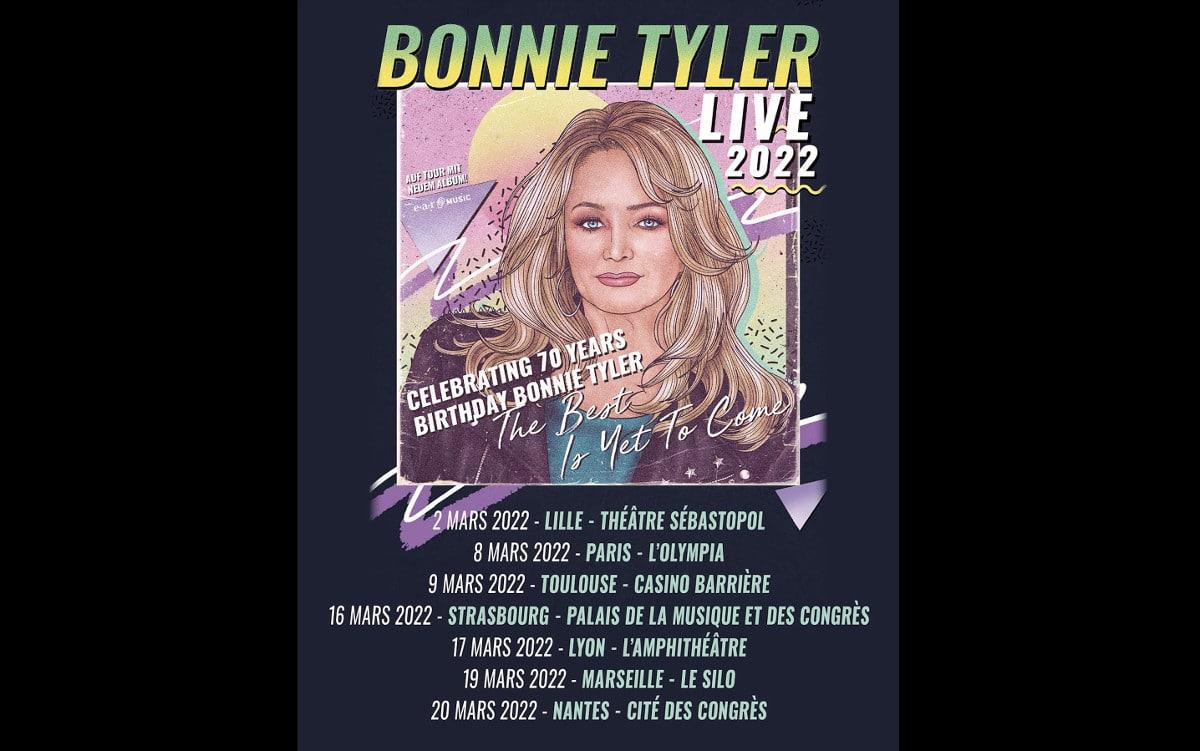 Bonnie Tyler en concert à Paris et en tournée en 2022