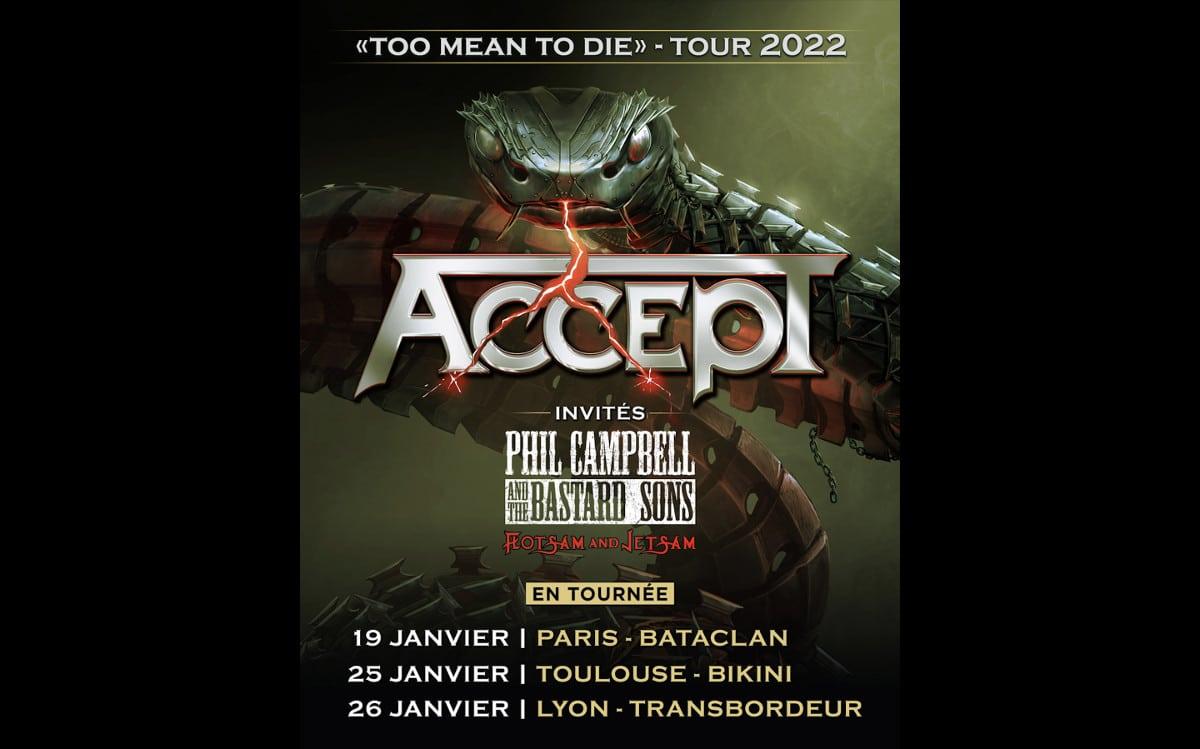 ACCEPT annonce les dates de sa tournée européenne